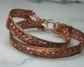 Copper and Braid Bracelet