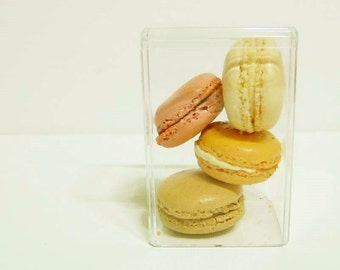 2 Square French Macaron Box - for Bite Size Sweets