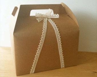 4 Kraft Tote Bakery Boxes