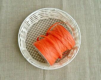 1 Spool 100 yards - Raffia String in Red orange or Dark Red