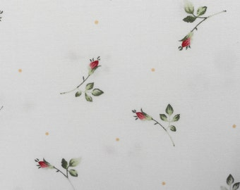 Rose Rosebud Quilt Quillting Fabric Tiny Roses 100% Cotton 1 yard
