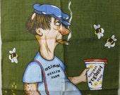 Irish Linen Tea Towel never used Health Farm