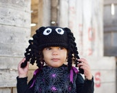Crochet Itsy Bitsy spider hat 12 24 months 2t 3t 4t 5t 6 7 8 teen adult custom