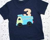 BEEP BEEP Custom Garbage Truck Dumptruck Construction Applique Birthday Shirt Monogrammed