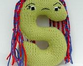 Letter S - Alphabet Stuffed Toy Knitting PATTERN - Shemika