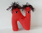 Letter N - Alphabet Plush Toy Knitting PATTERN - Nicholas