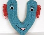 Letter V - Alphabet Plush Toy Knitting PATTERN - Vincent