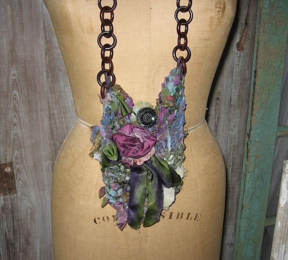 purse silk faerie rag bag in purples