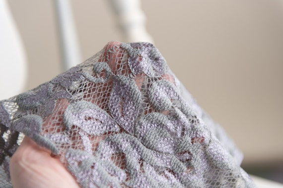 gray lavender stretch lace newborn girl 0-3 months baby wrap photo prop READY TO SHIP