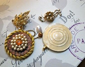 Mixed lot of vintage destash jewelry supplies - lot of 4