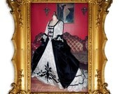 18th Century Rococo Gown, Marie Antoinette Style, Gothic Rococo Couture from Kathleen Marie Couture