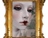 Antoinette, A Vintage Style Mannequin, Hand Painted, One of a Kind Wig Display Piece by Kathleen Marie