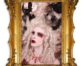 The Dutchess of Ravenswood-Gothic Aristocracy Powdered 18th Century Wig Couture Style by Kathleen Marie