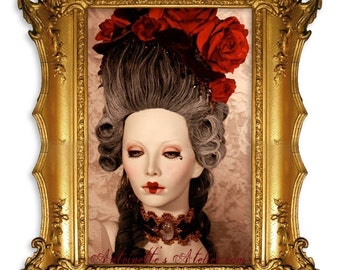 Rococo 1770s Historical Wig -De Lamballe- Marie Antoinette Wig, by Kathleen Marie