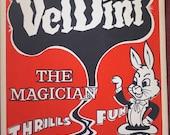 Vintage Veldini Magic Poster - Authentic, not a reproduction