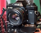 Reserved for joycenpatrickperez - Vintage Minolta X-700 35mm Film Camera with 50mm lens, plus zoom, flash & more