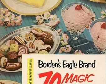 Borden's Eagle Brand 70 Magic Recipe, 1952 - VG