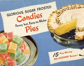 Knox Gelatine Candies and Pies Recipe Brochure 1950s