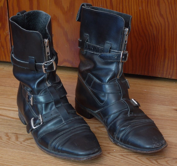 Sale Vintage 80 S Nana Black Punk Boots Buckles And