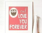 Owl Love You Print 8 x 10 - Nursery Artwork