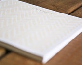 Herringbone Personalized Notepad - Customize for Wedding Gifts