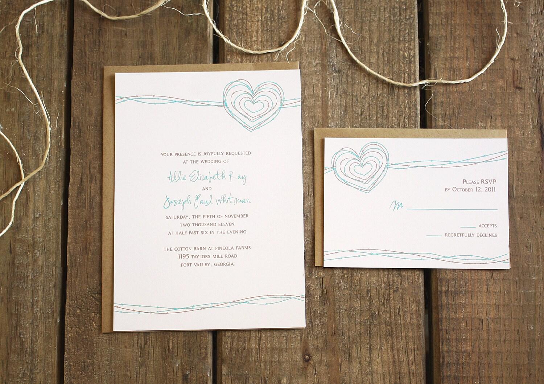 Handmade Rustic Wedding Invitations: Chandeliers & Pendant Lights