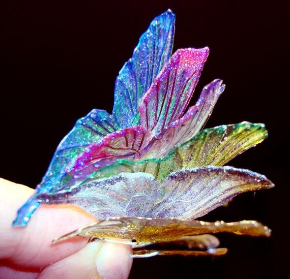 Emerald Crystal BJD faery wings