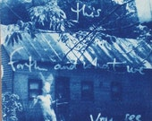 What we bring forth and what we leave behind....  Original Cyanotype Contact Print