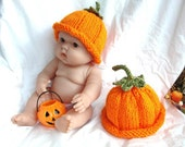 On Sale -10.00 Ready to ship Baby Pumpkin Hat with sage stem for your adorable little one