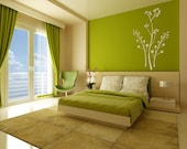Wall Decal Organic Branches Nature Plant Botanical Flowers Buds Blossoms Bloom