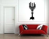 Wall Decal Candle Candelabra Silhouette Modern Lighting Candles Light Candlestick