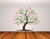 Tree Wall Decal, Tree Decal, Nursery Wall Decal, Modern Nursery Decor, Apartment Decor, Apartment Wall Art, Nature Wall Decal, Botanical Art