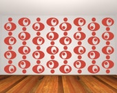 Retro Wall Decal, Circles Wall Decal, Geometric Wall Decor, Mid Century Modern Decor, Abstract Circles, Modern Wall Pattern, Modern Design