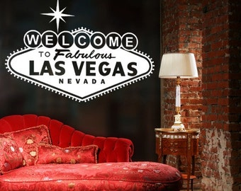 Welcome Sign, Las Vegas Sign, Vegas Wall Decal, Typography Wall Art, Las Vegas Decorations, Welcome To Las Vegas Sign, Dorm Decor