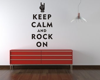 Music Wall Decal, Wall Quote Decal, Gifts for Music Teachers, Gifts for Musicians, Man Cave Decor, Dorm Decor, Rock On Wall Decal