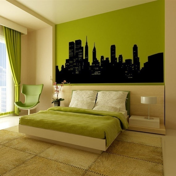 Wall Decal New York City Wall Decor NYC Skyline Cityscape Travel Vacation Destination The Big Apple