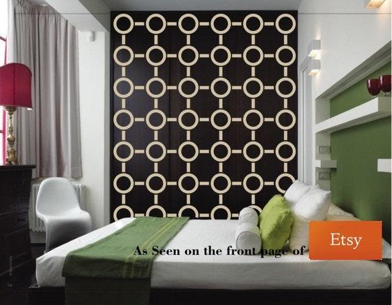 Wall Decal Geometric Retro Wall Decor Mod by WallStarGraphics