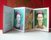 Frida Kahlo Handmade Tiny Accordion Book