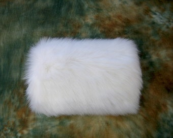 Flower Girls faux fur winter wedding muff - available in Ivory and white