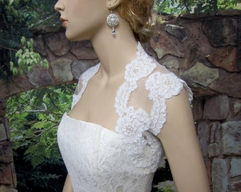 Wedding bolero, wedding jacket, lace bolero, bridal bolero, alencon lace bolero jacket