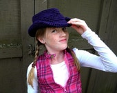 Kids Cowboy Hat Crochet Pattern-Permission to sell finished items.