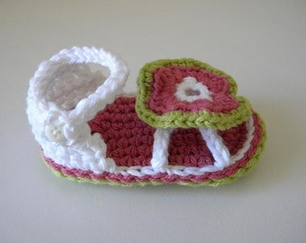 Flower Baby Sandals Pattern-Permission to sell finished items.Immediate PDF file download.