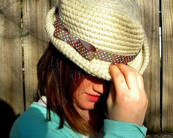 Baby to Teen Fedora Hat Pattern. Permission to sell finished items.Immediate PDF file download.