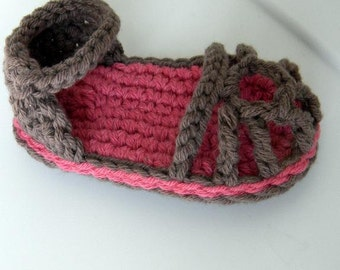 Baby Summer Sandals Pattern(4 sizes:0-12 months)-Permission to sell finished items.Immediate PDF file download.