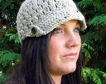Button Cap Crochet Pattern(baby to adult sizes)-Permission to sell finished items.Immediate PDF file download.