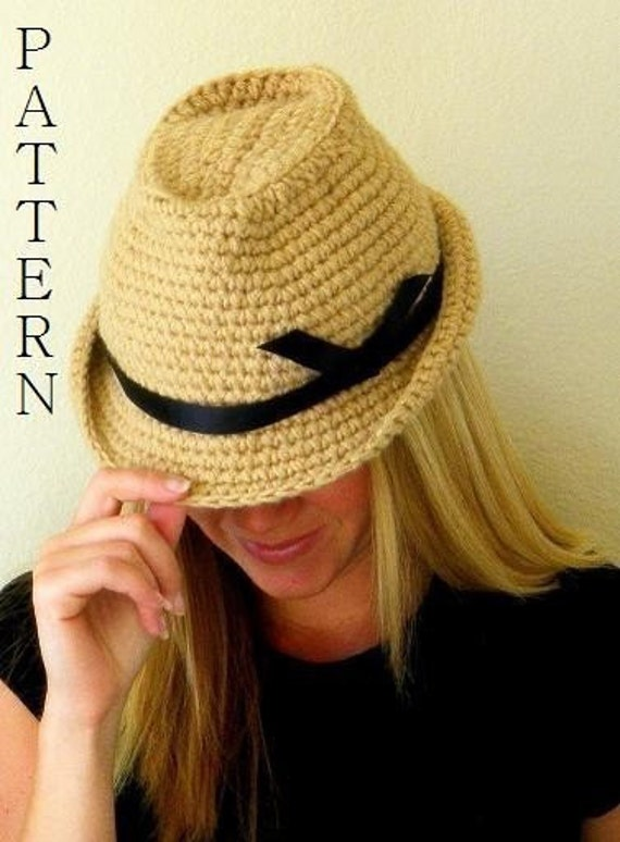 Fedora Hat Pattern- permission to sell finished items.Immediate PDF file download.