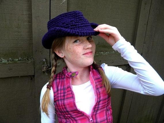 Items similar to Kids Cowboy Hat Crochet Pattern ...