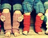 Baby Girl Leg Warmers Custom Handmade Crochet