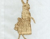 glassine EASTER bunny french shabby chic rabbit wedding shower rubber stamped  gift bag - 4 ... 324 . ....oohlala