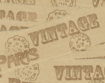 milk chocolate with VINTAGE PARIS  and French POSTMARKS rubber stamped ribbon  ... 80 . ....oohlala